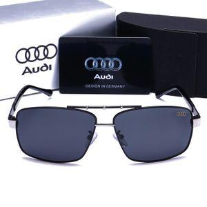 0c952b39bfa970 Audi Hommes lunettes de Soleil Pilot Vintage Marque Designer Hommes Femmes  Lunettes de Soleil gafas oculos de sol masculino