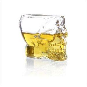 Verre à vin NOUVEAU 150ml TETE Mort CRANE Coupe Crystal Skull