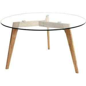 TABLE BASSE Table ronde en verre - 80x45 cm