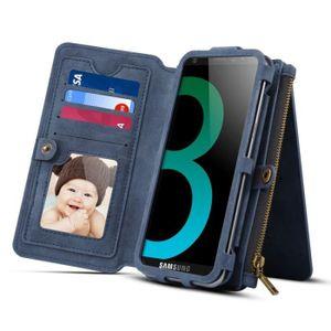 HOUSSE - ÉTUI Housse Étui bleu foncé pour Samsung Galaxy S9 et A