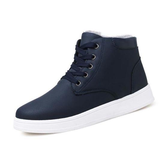 Avec Bottes Coton Courtes Chaussures Mode Homme Pour Chaudement rxQeCdoWB
