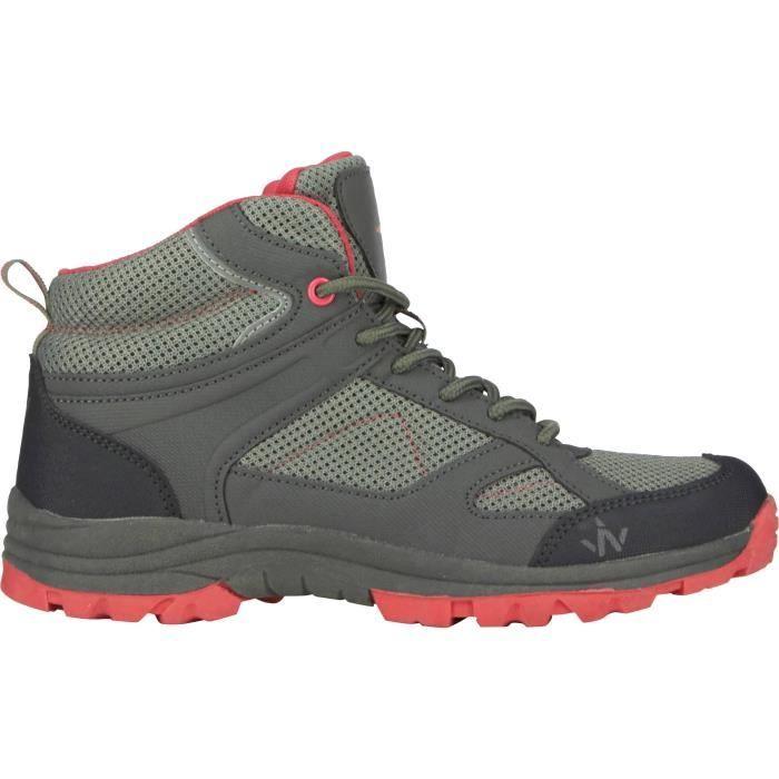 1ER PRIX Chaussures de randonnée Trek 100 Ld - Femme - Gris et rose