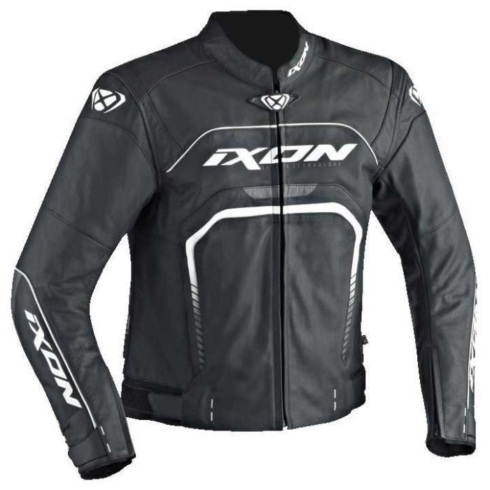 IXON Blouson de moto Fighter - Noir / Blanc