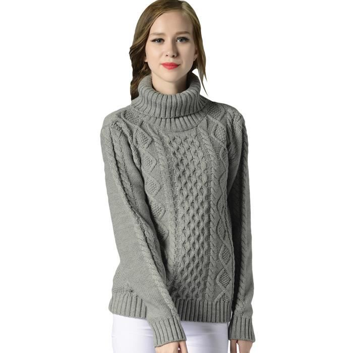 pull femme hiver col roule