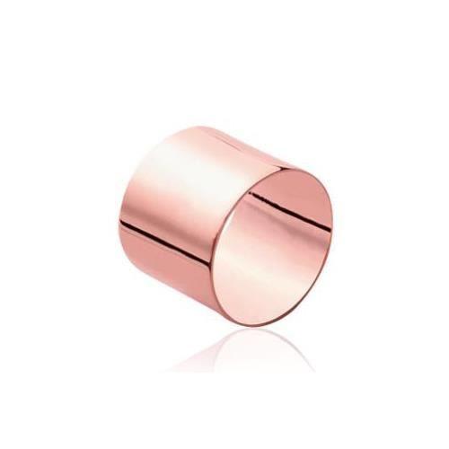 Bague en plaqué or rose Tube