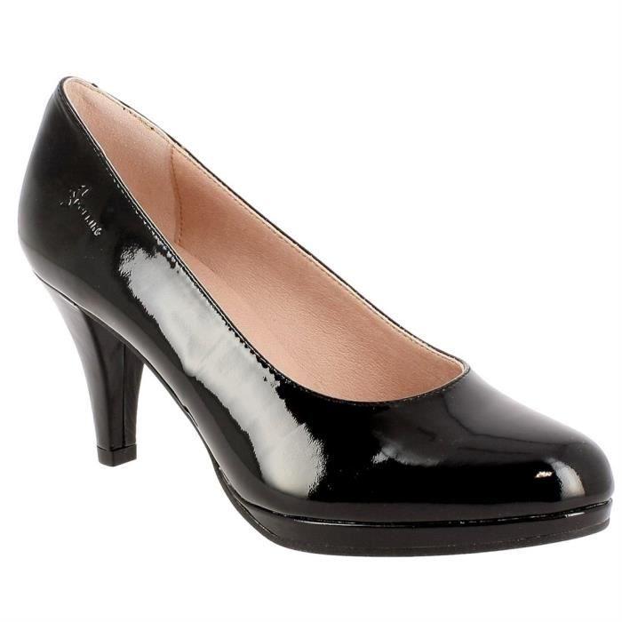 Escarpins femme noir talon 7 cm - Achat   Vente pas cher c2a78f3b5735