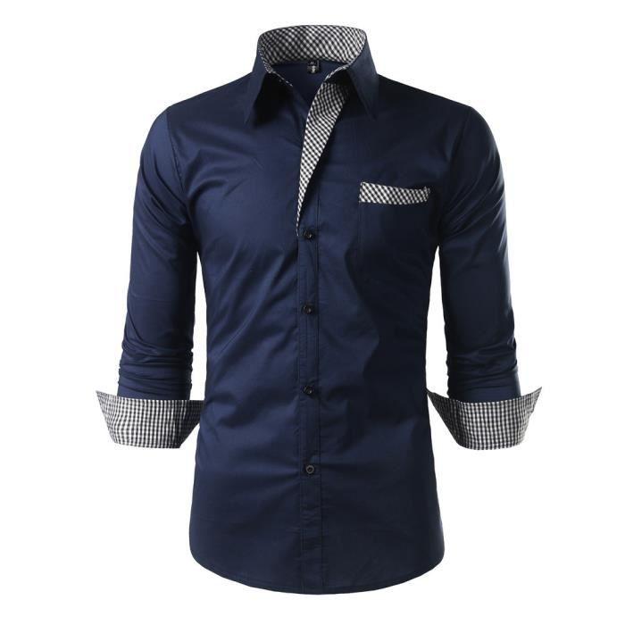 Chemise Slim Homme Fit Chemises Luxe Pour Marque Manche Longue hQrBosCxtd