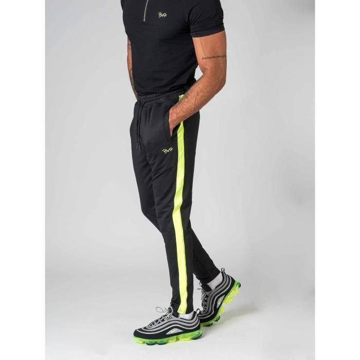 33c791986e2c9 Pantalon de jogging à bandes fluo Homme Project X Paris (M - Noir ...