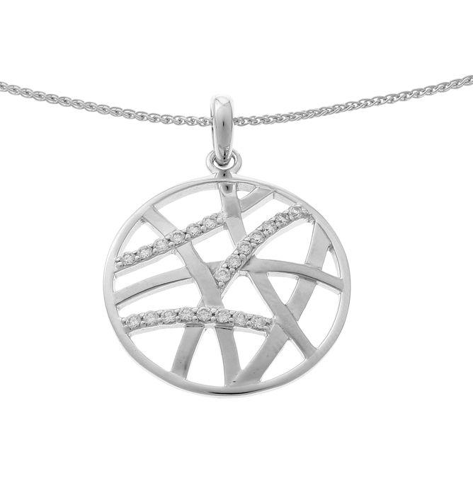 ORPHELIA-Collier avec pendentif pour Femmes en Argent sterling 925 Argenté-ZH-7098