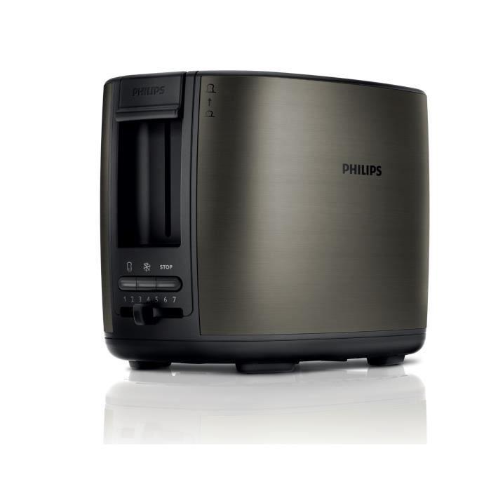 PHILIPS HD2628 80 Grille-pain électrique - Titanium - Achat   Vente ... 8fde3234690