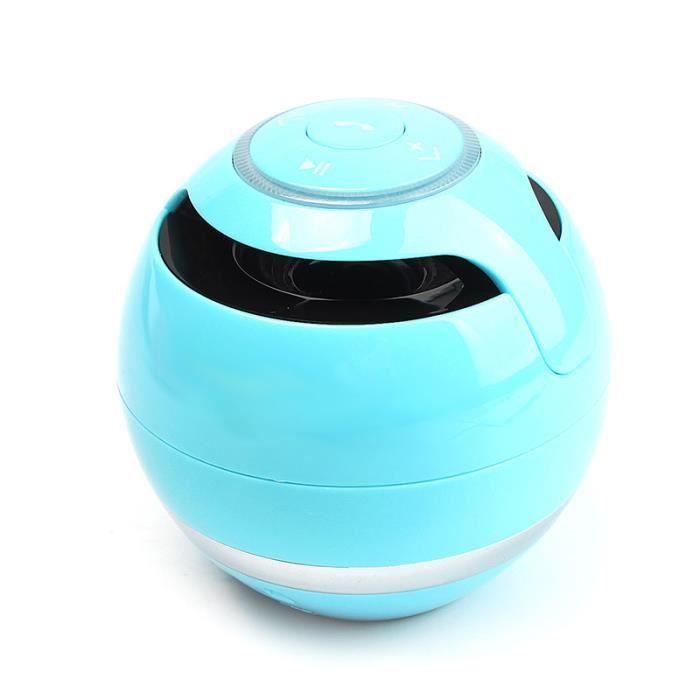 Sans Fil Bluetooth Mini Subwoofer Sport Outdoor Stereo Portable Flash Light Mains Libres Appel -bleu