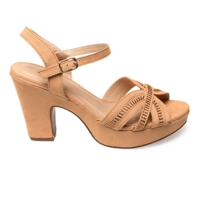 La Modeuse - Sandales en suédine femme