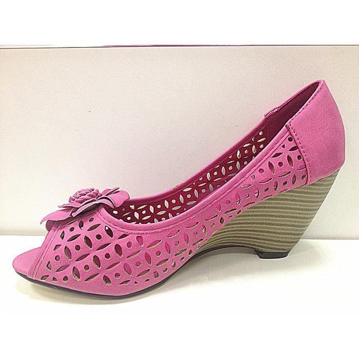 Bout Sandale Fashionfolie888 Rose K1002 Ouvert à Femme Escarpins Talon Chaussures qXA1AwpOxT