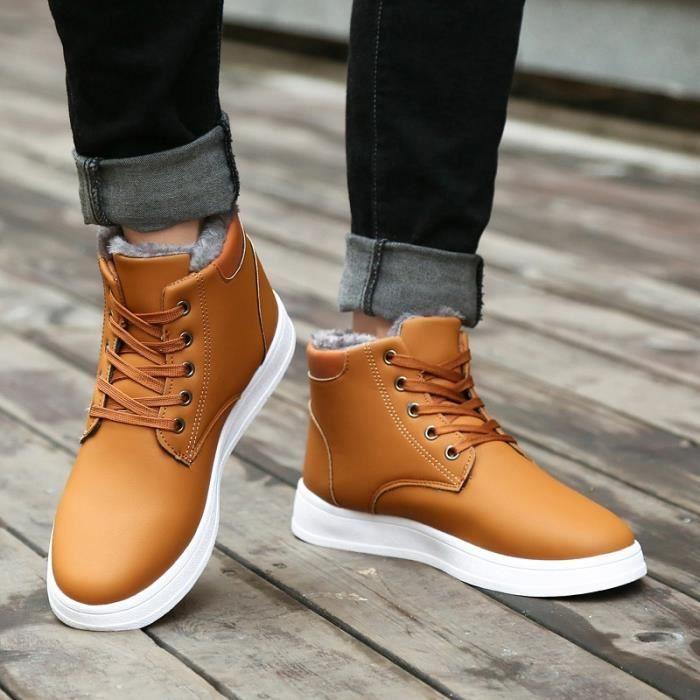 l'hiver avec Chaussures Chaussures Bottes pour Bottes Bottes homme mode Chaussures coton chaudement étanches Bottes Bottes courtes qwxR8zpI