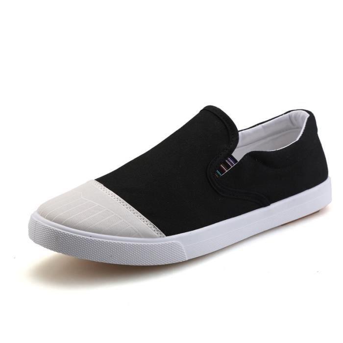 chaussures multisport Homme de sport Casual Canvas Slip sur Mocassins bleu taille41 BX76S