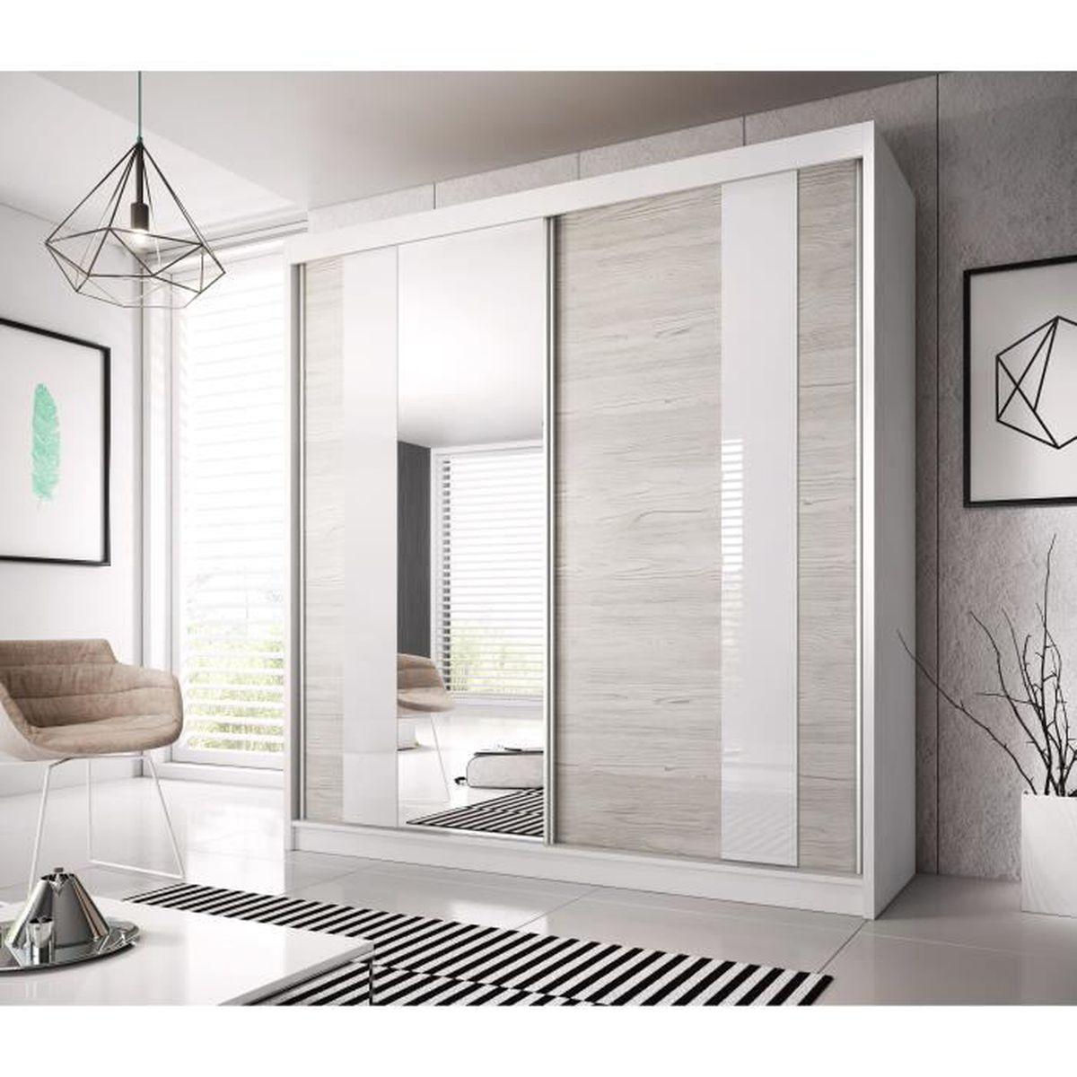 Armoire contemporaine coulissante 2 portes Madison - Achat / Vente ...