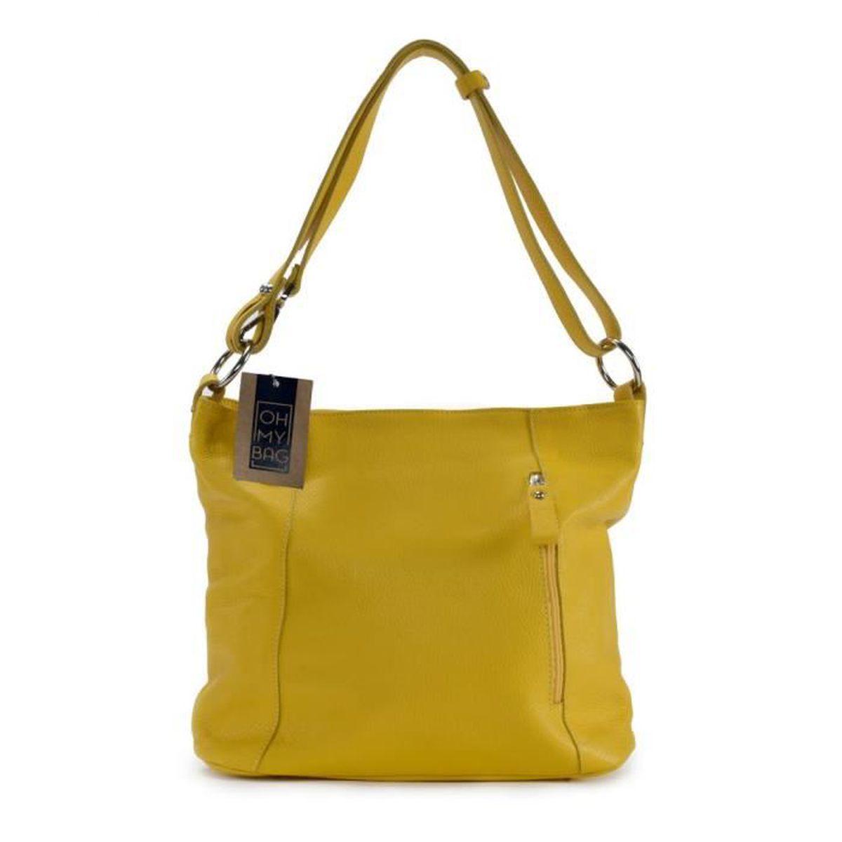 db10413e30f Sac à Main femme en CUIR italien - Modèle So Chic jaune - Achat ...