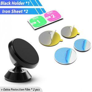 FIXATION - SUPPORT Support Téléphone noir Mini Magnétique support voi
