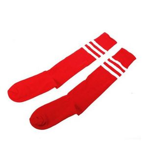 CHAUSSETTES FOOTBALL SODIAL(R) Rayures Blanches sur Rouge Chaussettes d