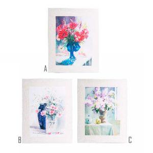 TOILE Image peinte Toile Vase de fleurs (40x50x3 cm) (A)