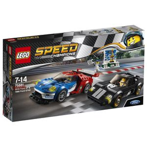 ASSEMBLAGE CONSTRUCTION LEGO® Speed Champions 75881 Ford GT 2016 et Ford G