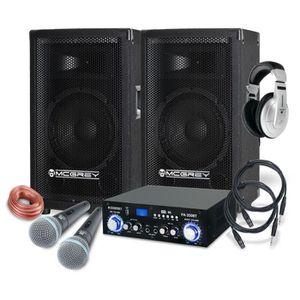 PACK ACCESSOIRES McGrey DJ système de karaoké Party-1000 600W