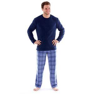 d5d519de9646e Harvey James - Pyjama Thermal - homme - manches longues/pantalon à carreaux