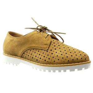 DERBY Women's Fashion Shoes Derby Shoe - Perforated - Br