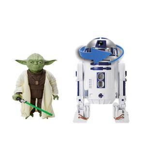 FIGURINE - PERSONNAGE STARWARS - Yoda 50cm + R2D2 électronique