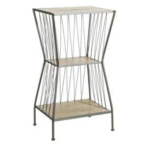 TABLE D'APPOINT Sellette 1 étagère Bois/Métal - BRUTUS n°2 - L 42