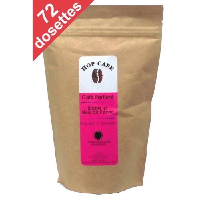 CAFÉ Pack 72 dosettes de Café aromatisé Érable Pécan po