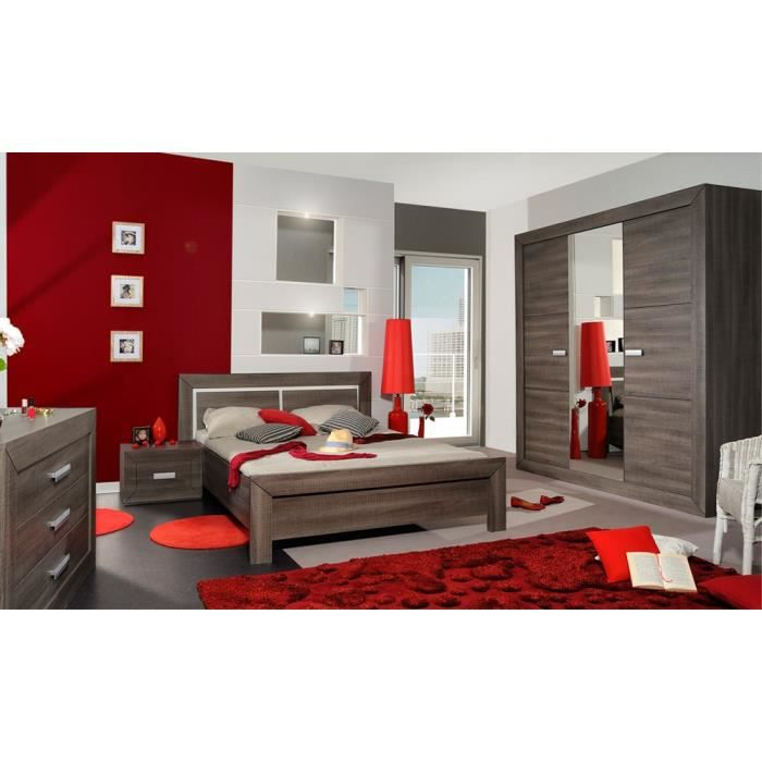 Awesome chambre complte adulte gris fonc rom with chambre for Chambre complete adulte pas cher design