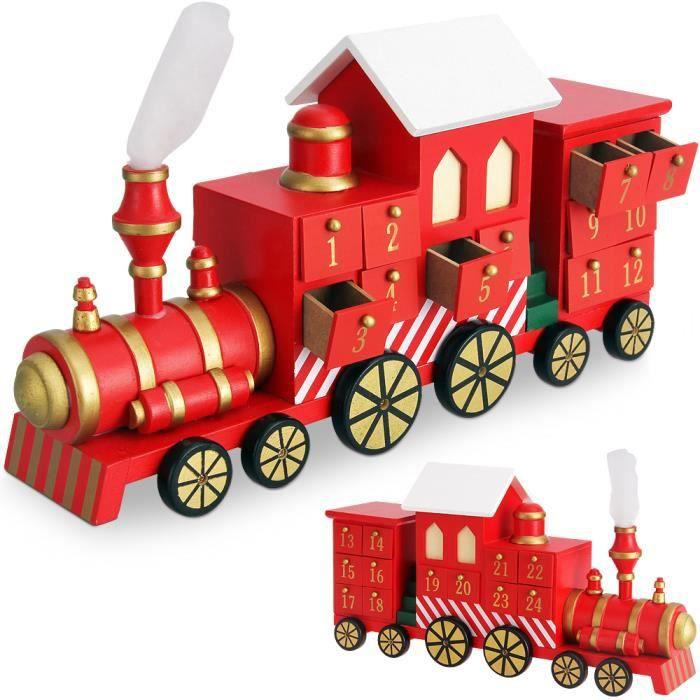 calendrier de l 39 avent locomotive avec tiroirs achat. Black Bedroom Furniture Sets. Home Design Ideas