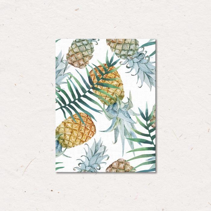 avec cadre int rieur ananas style nordique art toile imprimer simple feuille fra che mur. Black Bedroom Furniture Sets. Home Design Ideas