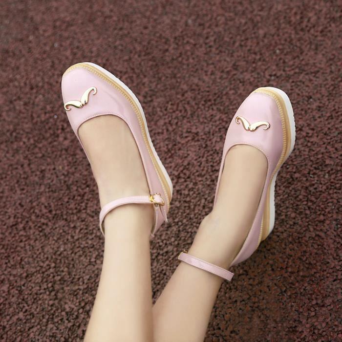 chaussons-Femmes Pure Toe CarrCouleur cheville Strap Sandales Chaussons