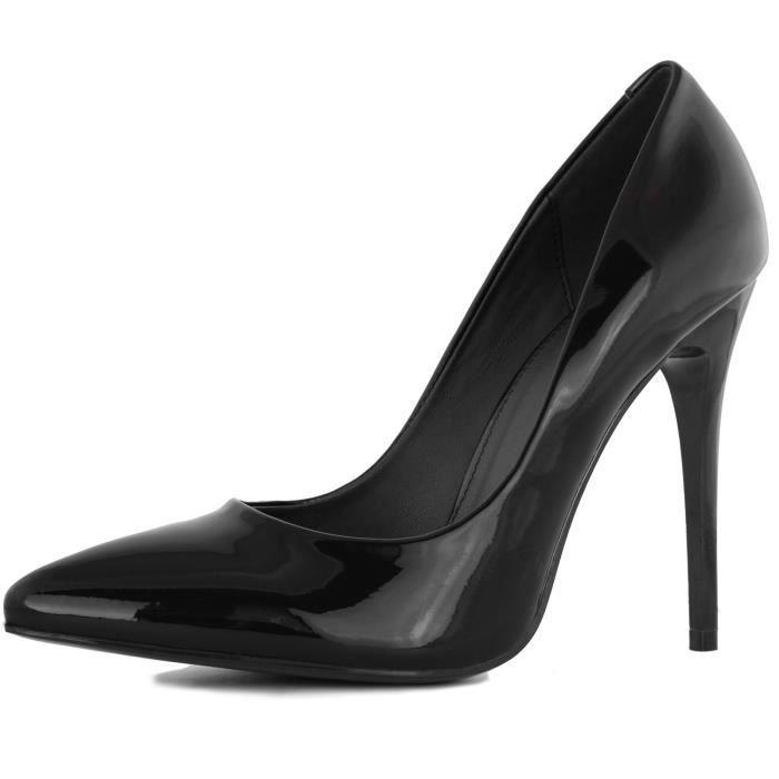 Stiletto Classique Mode féminine Toe Paris-Pointu 01 Robe talon haut pompe Chaussures M9JTH Taille-39 1-2