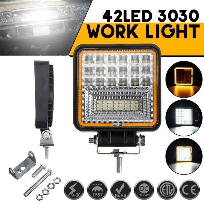 PHARES - OPTIQUES Phare de Travail LED Carre 48W 3360lm Projecteur É