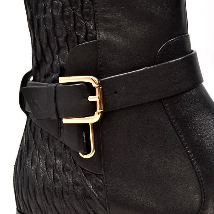 Naz Wide Calf Leather Boot XZJ2J Taille-37