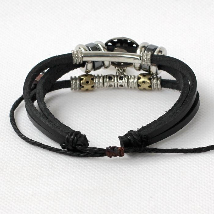 Womens Leather Bracelet Leather Bracelet Cross Bracelet Charm Bracelet Beads Bracelet Rings Bracel ZRB2I