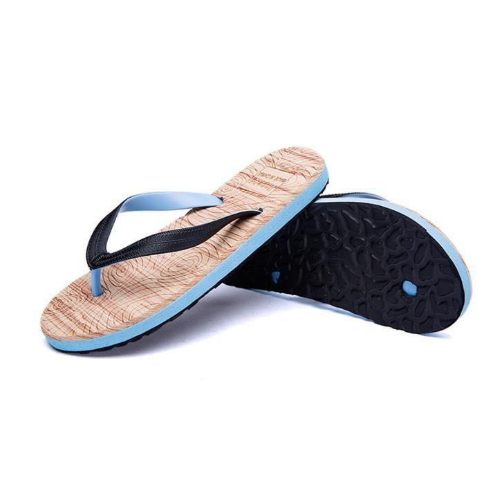 hommes sandales Antidérapant Respirant sandale de plage pour homme platform thong sandals chaussure homme tend dssx136rouge42