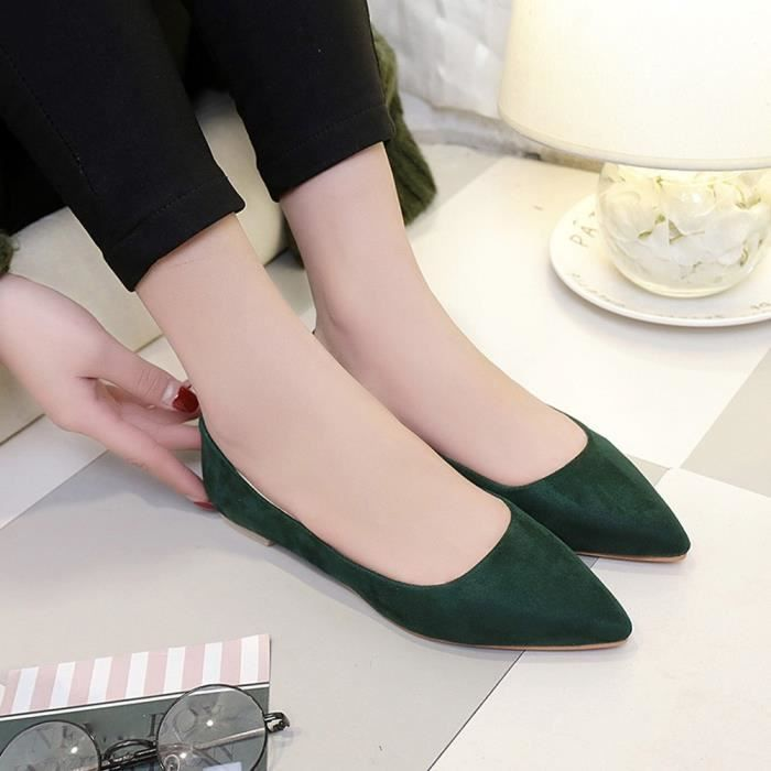 on Casual Party 6111 Pointed Fashion Vert Slip Femmes Girl Shallow xz Shoes Flat Top UwFCB
