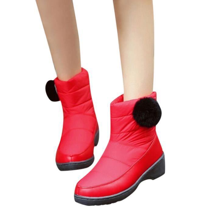 Talon Bout Bottines Slip Solide 10374 Femmes on Couleur Moyen Le Bottes Rond À Chaussures 7d0XnxB