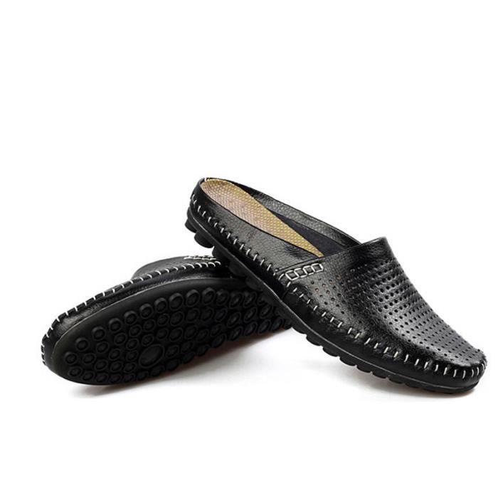 Respirant Chaussure détente XZ082Noir44 Cuir Hommes Printemps Mode BDG Chaussures Ete PS0qnw