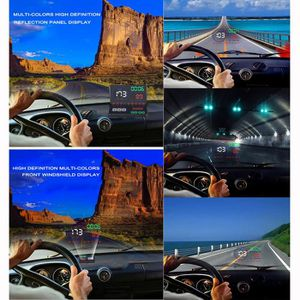 ACCESSOIRE MASSE 5,5 pouces HUD M9 voiture Head Up Display OBD2 Plu