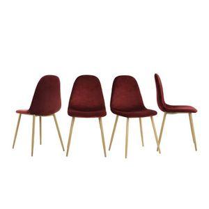 CHAISE FurnitureR Lot De 4 Chaises Salle Manger