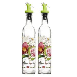 VINAIGRETTE 2PCS Fleur Vinaigre Bouteille Huile Jar Bouteille