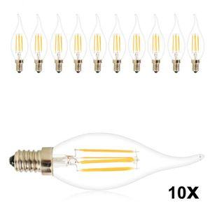 AMPOULE - LED 10 Pcs Super Lumineux Flame Tip LED 4W Incandescen