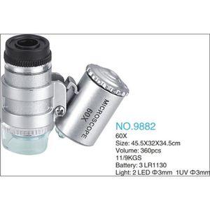 ECLAIRAGE MICROSCOPE 60 x mini Microscope de poche portable réglable Mi