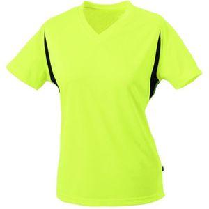 a1785313c246d T-SHIRT MAILLOT DE SPORT t-shirt running respirant JN316 - jaune fluo -