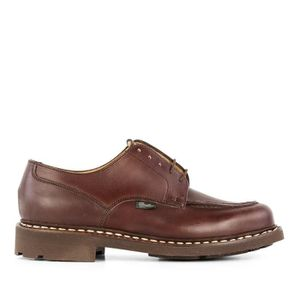 MOCASSIN PARABOOT HOMME 710707BROWN MARRON CUIR CHAUSSURES